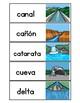Landforms / Accidentes geográficos y hábitats Vocabulary Cards