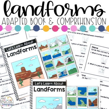 Landforms Adapted Books & Comprehension for Special Education