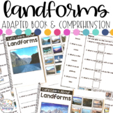 Landforms Adapted Books & Comprehension for Special Education with REAL Photos