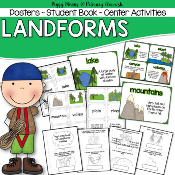 Landforms - Student Booklet, Posters, and more