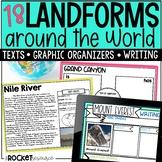 Landforms Worksheets Visit 18 famous landforms Around the World