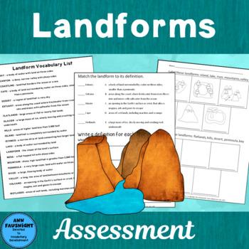 Landforms Assessment