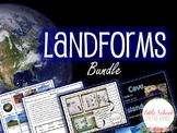 Landforms BUNDLE - Complete No Prep Unit and Presentation