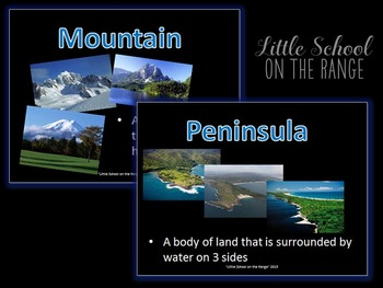 Landforms BUNDLE - Complete No Prep Unit and Presentation