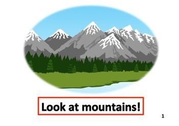 Landforms Big Book for beginners English Language Learners
