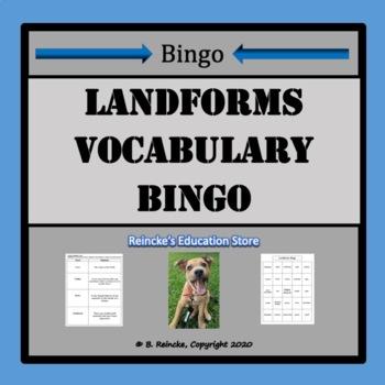 Landforms Vocabulary Bingo (30 pre-made cards!)