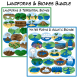 Landforms & Biomes Clip Art Bundle