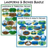 Landforms & Biomes Clip Art Bundle