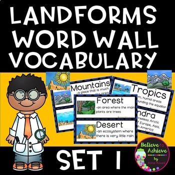 Landforms/Biomes Vocabulary Cards - Set 1