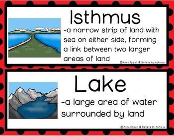 Landforms/Biomes Vocabulary Cards - Set 2