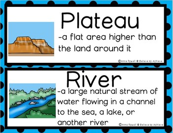 Landforms/Biomes Vocabulary Cards - Set 3