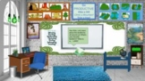Landforms Bitmoji Virtual Classroom Template/ w links!