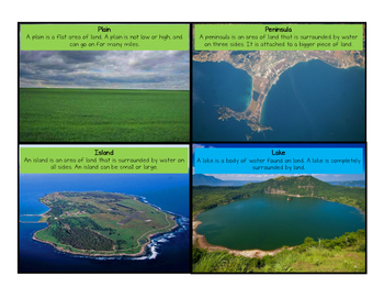 Geography/Social Studies Map Unit: Landforms & Bodies of Water