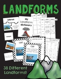 Landforms & Bodies of Water- Interactive Notebook, Vocabulary and More