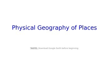 Landforms, Bodies of Water, Geography, Physical Characteristics