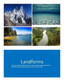 Landforms Booklet