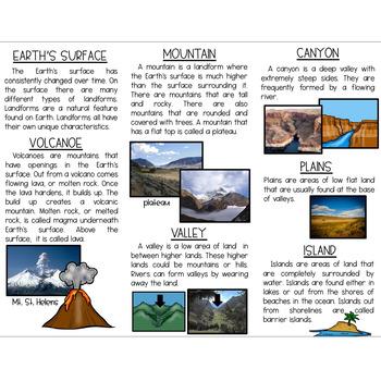 Landforms Brochure