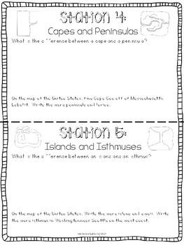 Landforms Center for Social Studies or Science