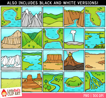 landforms clip art by littlered teachers pay teachers rh teacherspayteachers com landform clipart free plain landform clipart black and white