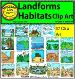 Landforms Clip Art   Personal and Commercial Use