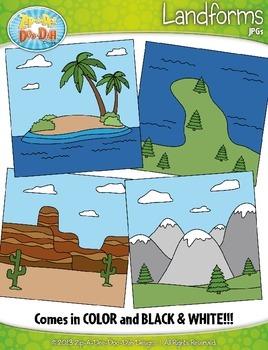 Landforms Clipart {Zip-A-Dee-Doo-Dah Designs}