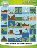 Landforms Clip Art Set — Includes 50 Graphics!