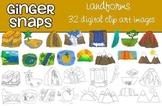 Landforms Clip Art