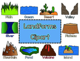 Landforms Clipart for Commercial and Personal Use