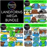 Landforms Clipart Mega Bundle {Creative Clips Clipart}