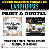 Landforms Close Reading Print and Digital Bundle