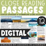 Landforms Close Reading for Google Classroom