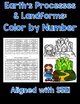 Earth's Features/Landforms Color By Number