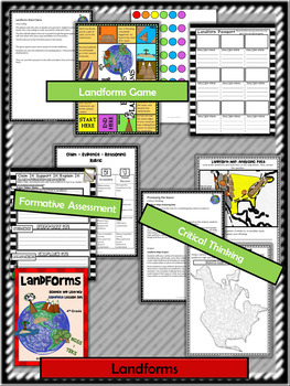 Landforms:Complete Lesson Set Bundle (TEKS & NGSS) 4th Grade