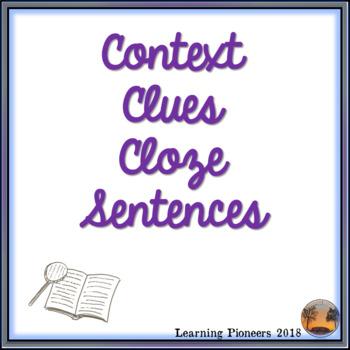Landforms - Context Clues Cloze Sentences