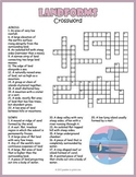Geography Landforms Crossword Puzzle