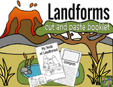 Landforms Cut and Paste Matching Mini Booklet