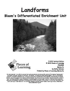 Landforms - Differentiated Blooms Enrichment Unit
