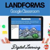 Landforms Digital Activities for Google Classroom, Distanc