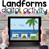 Landforms - Digital Activity - Distance Learning for Special Education