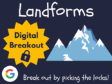 Landforms - Digital Breakout! (Distance Learning, Google C