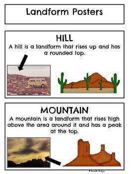 Landforms: Digital and Printable Versions