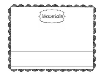 Landforms Draw and Write