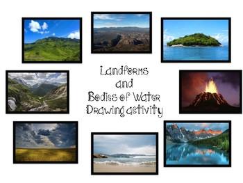 Landforms Drawing Activity