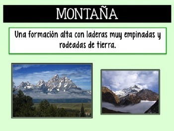 Landforms (Spanish Version)