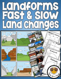 Landforms : Fast and Slow Changes to Earth's Surface
