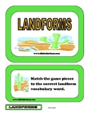 Landforms File Folder Game