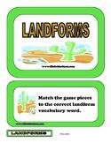 Landforms File Folder Game