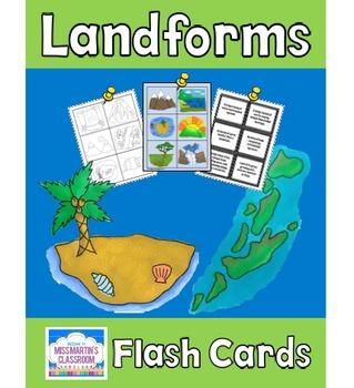 Landforms Flash Cards