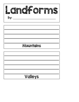 Landforms Flipbook