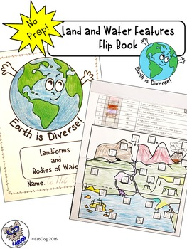 Landforms Flipbook: Color Code Earth's Landforms and Water Features